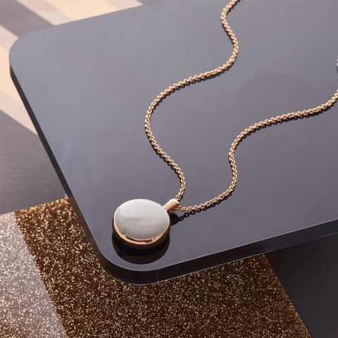 Reversible Disc Necklace - Love Luxe