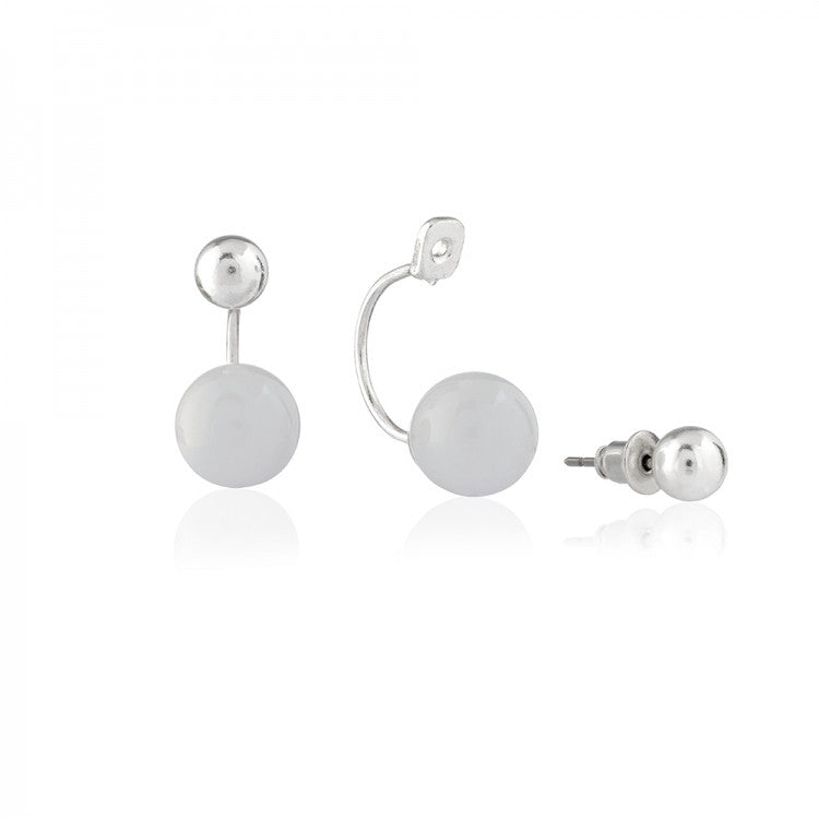 Stud Earrings With Removable Enamel Balls - Love Luxe