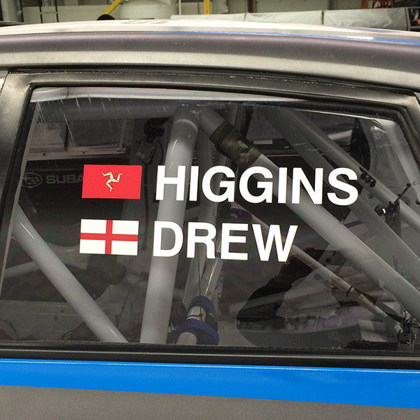RALLY NAME DECAL KIT