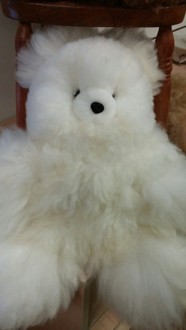 100% Alpaca Bear with Suri Fiber 7'' Tall