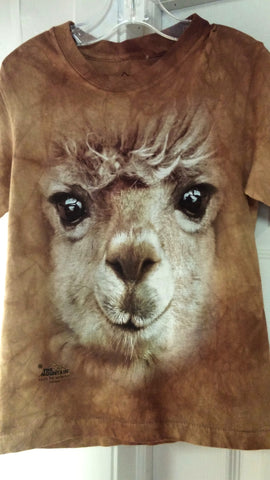 Big Face Alpaca T Shirt Adult Sizes