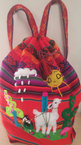 PERUVIAN CARRY ALL/CHILD'S BOOK BAG
