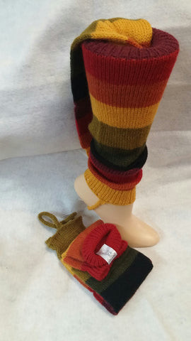 Alpaca Striped Leg Warmer
