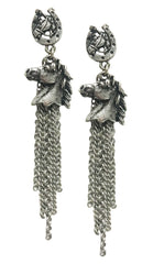 Horsehead cowgirl western charm RODEO earrings