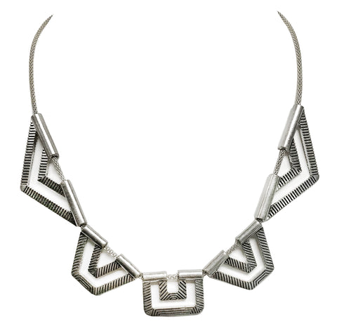 Boho geometric collar necklace