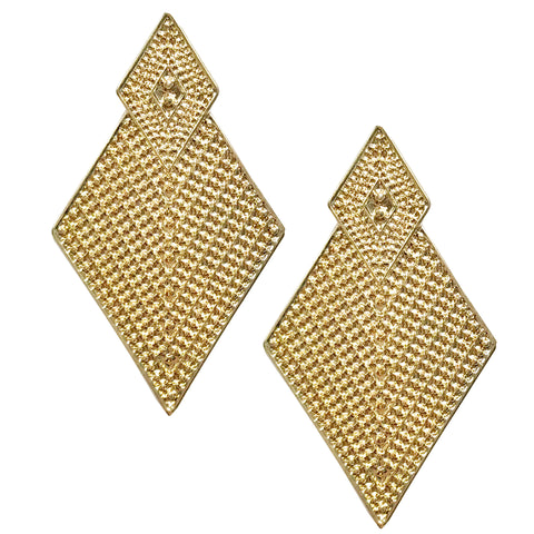 Diamond shaped triangle post earrings