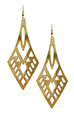 Statement art deco earrings