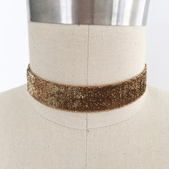 Glitter velvet choker necklace