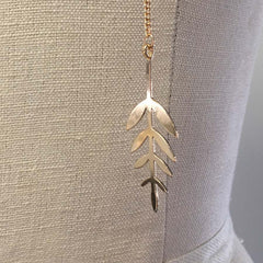 Wrap around layered feather charm necklace