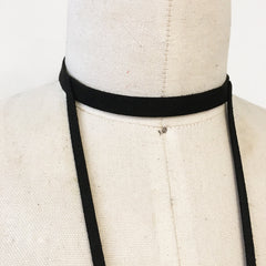 V neck choker body sued harness