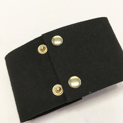 Corset suede bracelet with gold chain
