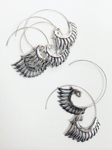 Tribal Style Wing ear cuff with rhinestone