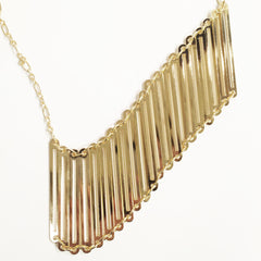 Futurism Horizontal Ladder Bib Necklace