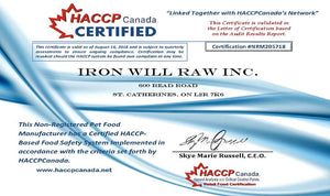 IRON WILL RAW INC. BECOMES THE FIRST RAW PET FOOD MANUFACTURER IN ONTARIO TO RECEIVE THE HACCP CERTIFICATION