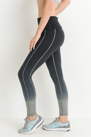 Highwaist Ombre Sand Dunes Full Cott Leggings