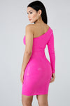 Pink Shine Out Bodycon Dress