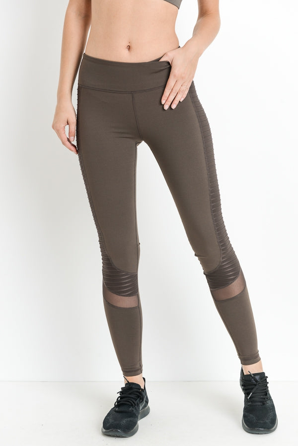 Mocha High Waist Leggings with Pockets