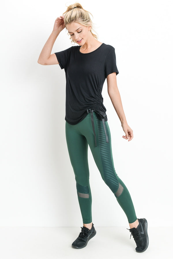 Hunter Green High Waist Leggings with Pockets