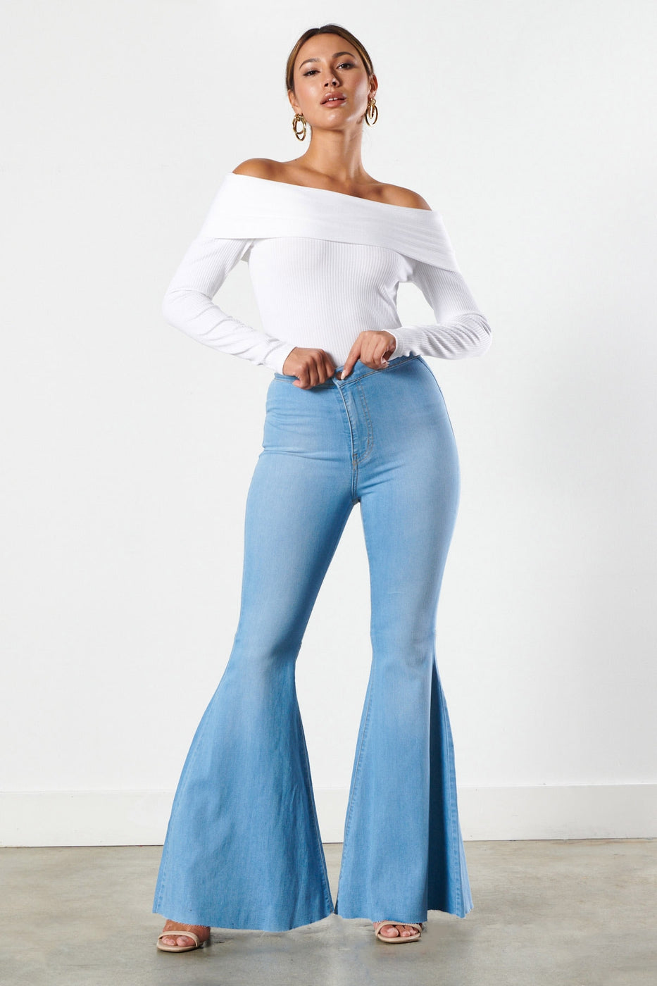 Light Stone Extreme Flare Jeans