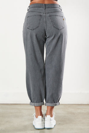 Grey Slouchy Mom Jeans