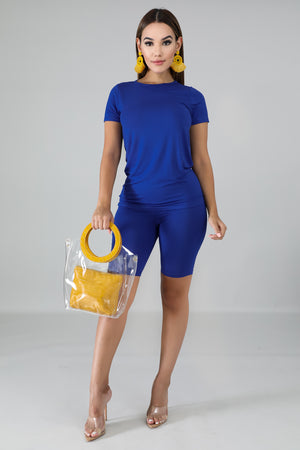 Royal Jersey Short Set