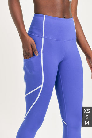 Splice Highwaist Leggings with Contrast