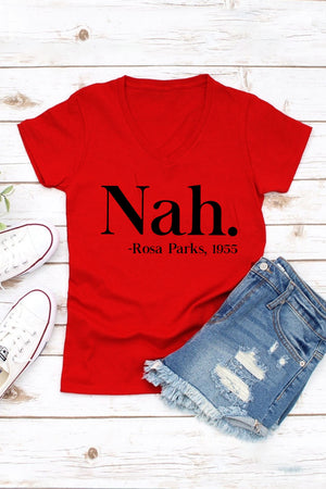 Women Fitted Fit V-Neck Tee