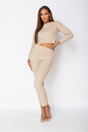 The Cable Knit Jogger Set