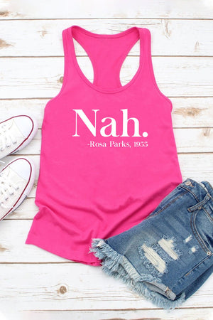 "Women Fit Fitted ""Rosa"" Racerback Tank Top"