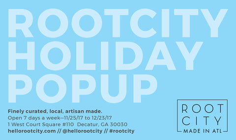 Root City Holiday Pop Up Atlanta Georgia Shopping