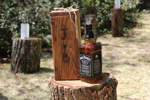 Whiskey Box for Rustic Wedding Ceremony