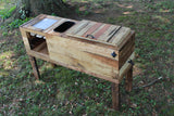 Deluxe Ultimate Party Cooler Stand reclaimed wood