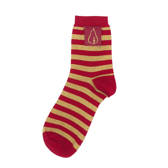 The Bartlett Stripe - Tango Red & Rich Gold