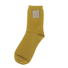 Vintage Cotten Socks in Mustard