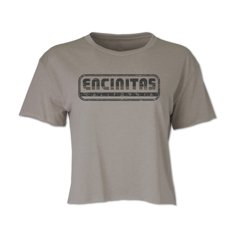 Ladies Encinitas Throwback Crop Tee