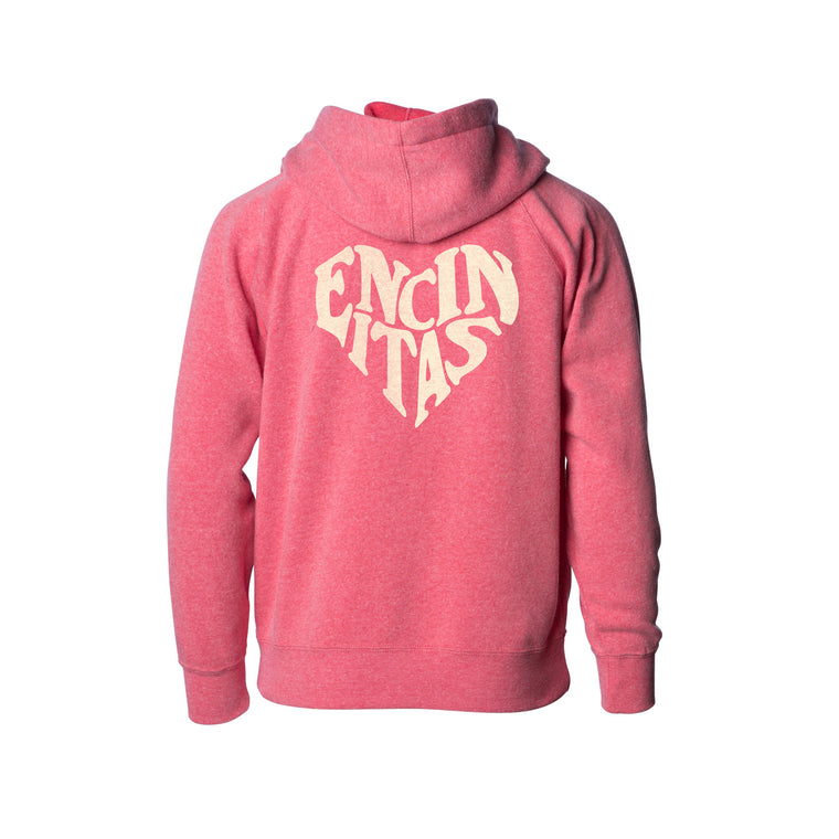 Youth Encinitas Heart Zip Hooded Sweatshirt