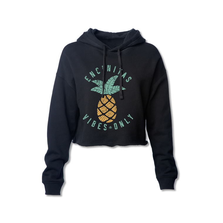 Ladies Encinitas Vibes Only Pineapple Crop Sweatshirt