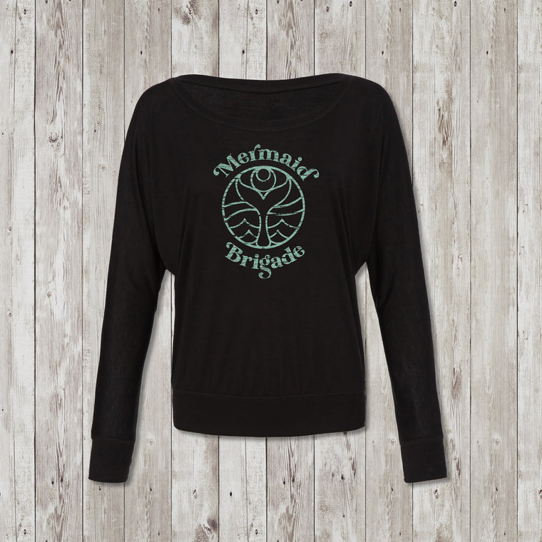 Ladies Mermaid Brigade Flowy Long Sleeve Tee