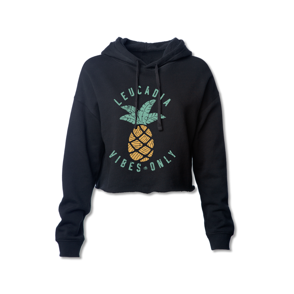 Ladies Leucadia Vibes Only Pineapple Crop Sweatshirt
