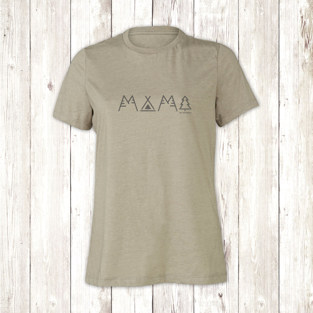 Ladies Mama Camper Crew Neck T-Shirt