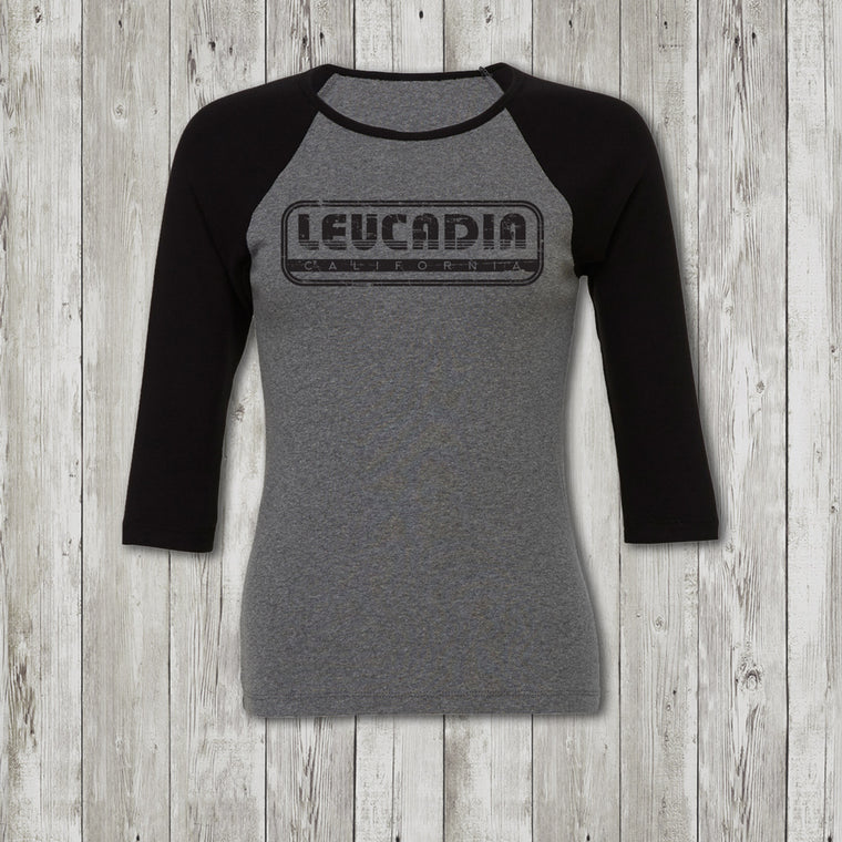 Ladies Leucadia Throwback 3/4 Sleeve Raglan