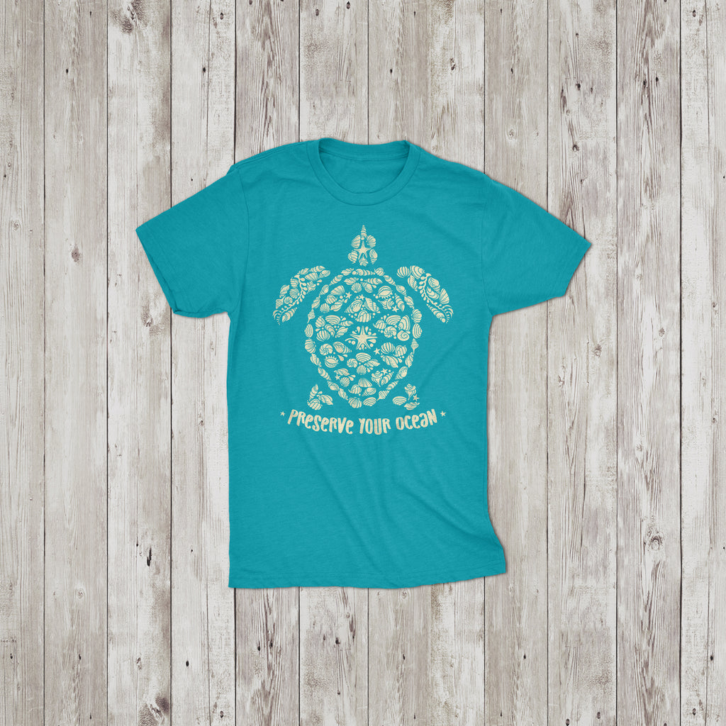 Preserve Your Ocean Sea Turtle Crew Neck T-Shirt