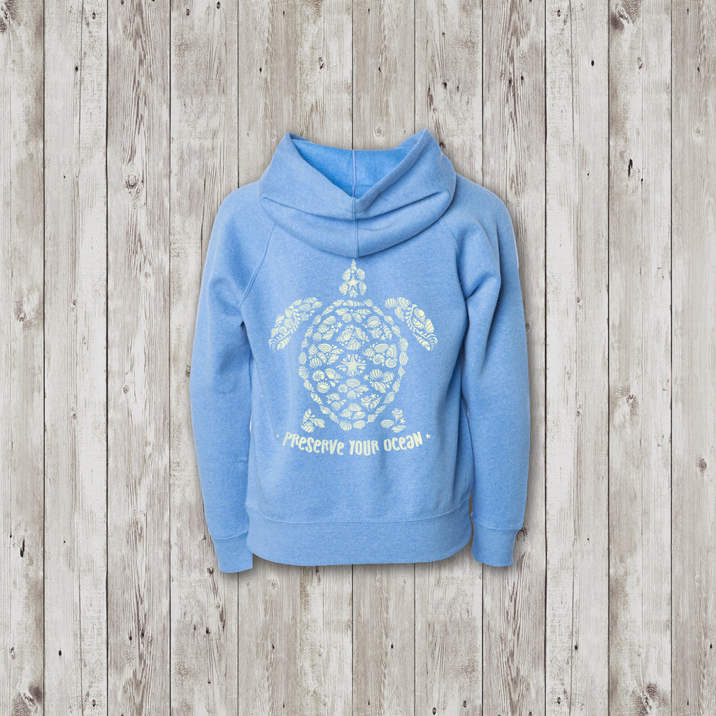 Kids Cali Sea Turtle Preserve Your Ocean Sweatshirt