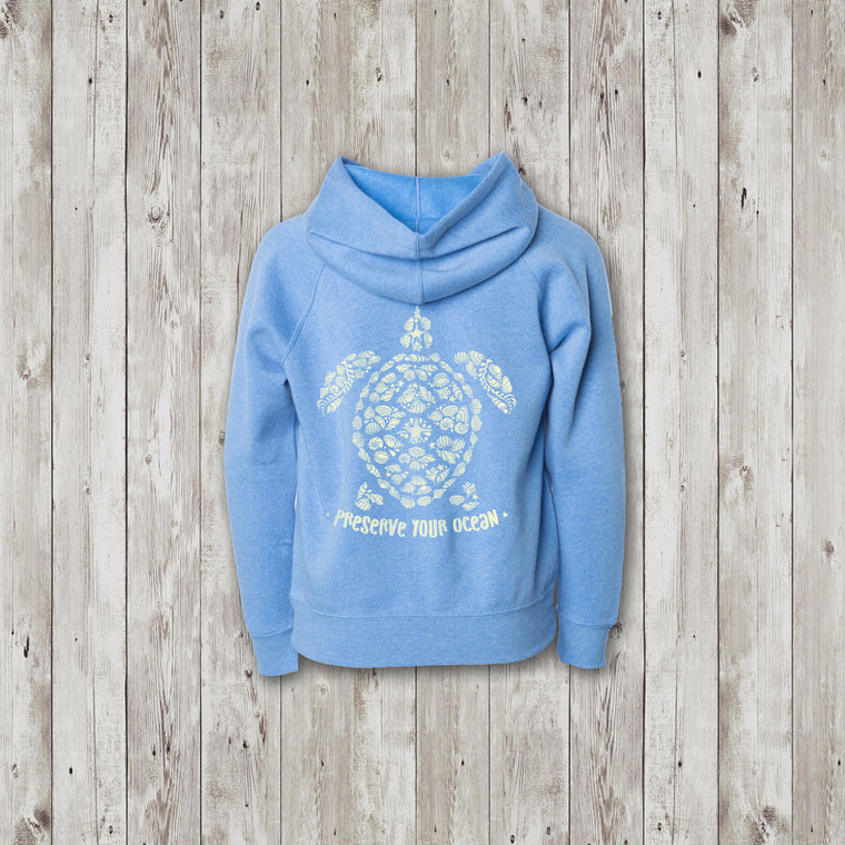 Youth Cali Sea Turtle Preserve Your Ocean Sweatshirt