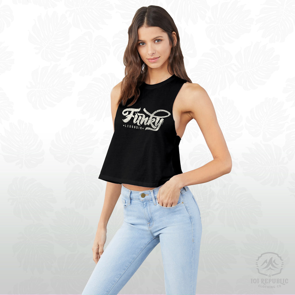 Ladies Funky Leucadia Crop Top