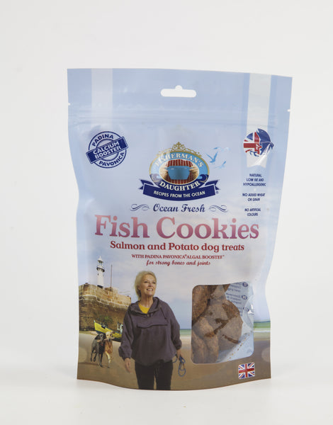 Salmon Cookies  with Padina Pavonica 200g bag Dog Food