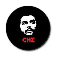 "Che Guevara 1"" Button (Red and White on Black)"
