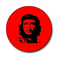 "Che Guevara 1"" Button (Black on Red)"