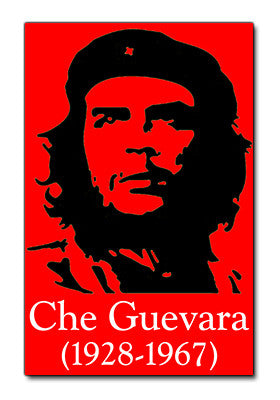 Black on Red Che Guevara Sticker