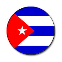"Cuban Flag 1"" Button"